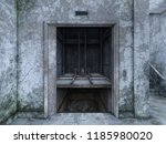 3d cg rendering of abandoned... | Shutterstock . vector #1185980020