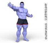 3d cg rendering of super hero | Shutterstock . vector #1185981649