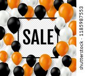 halloween sale poster with... | Shutterstock .eps vector #1185987553