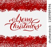 merry christmas red background... | Shutterstock .eps vector #1185989596