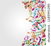 music colorful background with... | Shutterstock .eps vector #1185991390