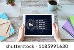 six sigma diagram  lean... | Shutterstock . vector #1185991630