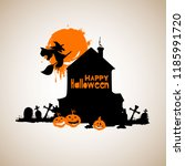 halloween night background... | Shutterstock .eps vector #1185991720