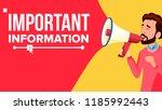 important information banner... | Shutterstock .eps vector #1185992443