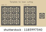 template for laser cutting.... | Shutterstock .eps vector #1185997540