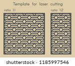 template for laser cutting.... | Shutterstock .eps vector #1185997546