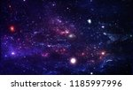 planets and galaxy  cosmos  ... | Shutterstock . vector #1185997996