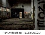 industrial building interior in ... | Shutterstock . vector #118600120