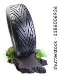 sports car tire on the road ... | Shutterstock . vector #1186006936