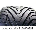 car tire on white background | Shutterstock . vector #1186006939