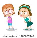 vector cartoon illustration of... | Shutterstock .eps vector #1186007443