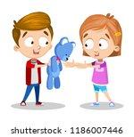 vector cartoon illustration of... | Shutterstock .eps vector #1186007446