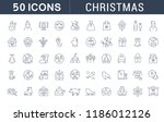 set of vector line icons of... | Shutterstock .eps vector #1186012126