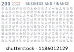 set of vector line icons of... | Shutterstock .eps vector #1186012129