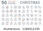 set of vector line icons of... | Shutterstock .eps vector #1186012150