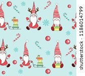 dwarves of santa claus seamless ... | Shutterstock .eps vector #1186014799