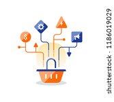 marketing strategy plan  basket ...   Shutterstock .eps vector #1186019029