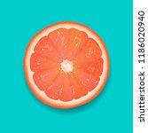 grapefruit segment mint... | Shutterstock .eps vector #1186020940