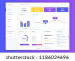 dashboard user admin panel... | Shutterstock .eps vector #1186024696