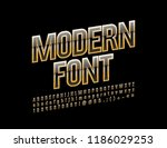 vector black and gold modern... | Shutterstock .eps vector #1186029253