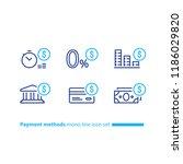 payment methods  financial... | Shutterstock .eps vector #1186029820