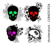 pattern with image a skull and... | Shutterstock .eps vector #1186031926