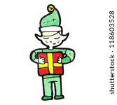 cartoon christmas elf with... | Shutterstock .eps vector #118603528