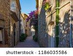 old street in sant marti... | Shutterstock . vector #1186035586