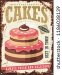 vintage sign for cakes and... | Shutterstock .eps vector #1186038139