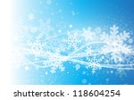 Abstract blue background with snowflakes - stock vector
