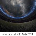 soccer stadium with... | Shutterstock . vector #1186042699