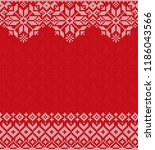 ugly sweater merry christmas... | Shutterstock . vector #1186043566