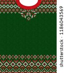 ugly sweater merry christmas... | Shutterstock . vector #1186043569