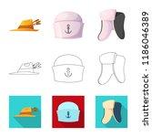 vector illustration of headgear ...   Shutterstock .eps vector #1186046389