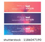set of 3 abstract banner  flyer ... | Shutterstock .eps vector #1186047190
