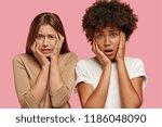 frustrated dejected sorrowful... | Shutterstock . vector #1186048090
