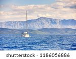 the beautiful sea landscape ... | Shutterstock . vector #1186056886