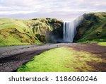 beautiful skogafoss waterfall... | Shutterstock . vector #1186060246