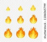 vector fire sprites... | Shutterstock .eps vector #1186065799