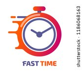 fast time logo vector icon... | Shutterstock .eps vector #1186068163