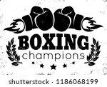 vector retro logo for a boxing... | Shutterstock .eps vector #1186068199