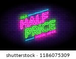half price  sale  premium offer ... | Shutterstock .eps vector #1186075309
