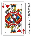 a playing card jack of hearts... | Shutterstock .eps vector #1186077163