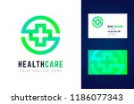 health care logo and business... | Shutterstock .eps vector #1186077343