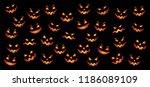 happy halloween party pumpkins... | Shutterstock .eps vector #1186089109