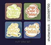 typographical flat sale... | Shutterstock .eps vector #1186089700