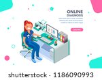 concept with characters ... | Shutterstock .eps vector #1186090993