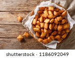 chin chin is a fried snack in... | Shutterstock . vector #1186092049