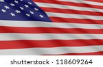 the creation of americam flag... | Shutterstock . vector #118609264