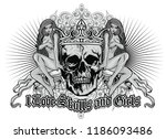 gothic sign with skull and... | Shutterstock .eps vector #1186093486